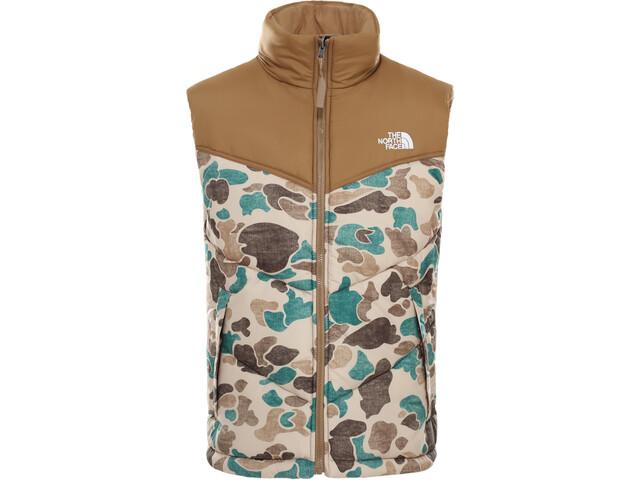 The North Face Saikuru Vest Men hawthorn khaki distressed duck camo print/utility brown
